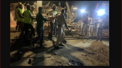 Photo of 5 मिनट में 3 मंजिला इमारत जमींदोज, कई लोग मलबे में दबे; रेस्क्यू ऑपरेशन जारी