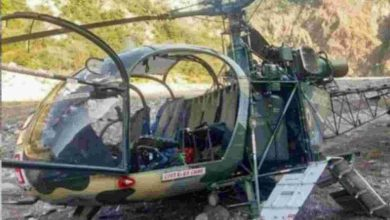 Photo of जम्मू-कश्मीर: कठुआ मेंचॉपर क्रैश होकर रंजीत सागर झील में गिरा,पायलट समेत चार जवान लापता