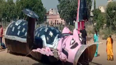 Photo of हरियाणा: दहन से पहले ही गिरा दिया रावन का पुतला, जानिए क्यों